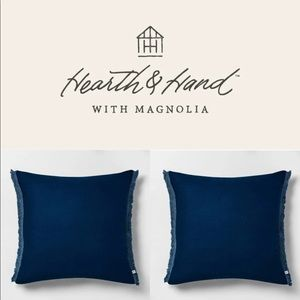 Hearth & Hand Square Navy Deco Pillow Set